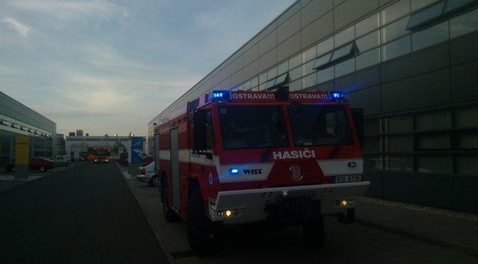 Výjezd jednotky: Požár, průmyslové objekty